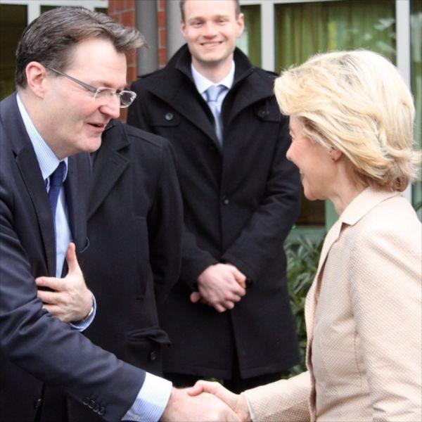 Bundesverteidigungsministerin Ursula von der Leyen zu Besuch