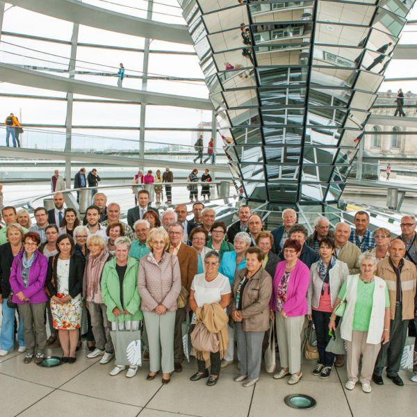 Besuchergruppe aus Nürnberg im Bundestag