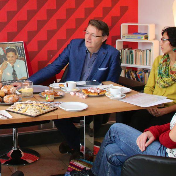 """""""Brunch für Soltani"""" anlässlich des 4. Jahrestags der Verhaftung Abdolfattah Soltanis"""