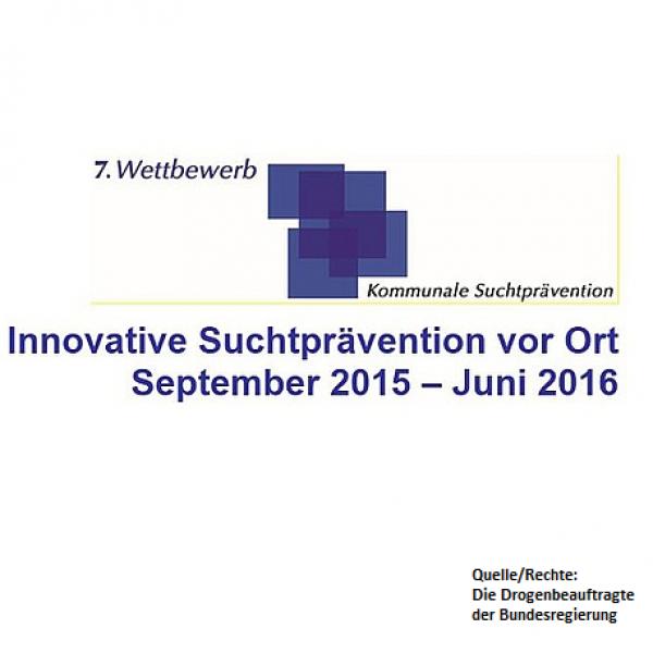 Wettbewerb zu innovativer Suchtprävention