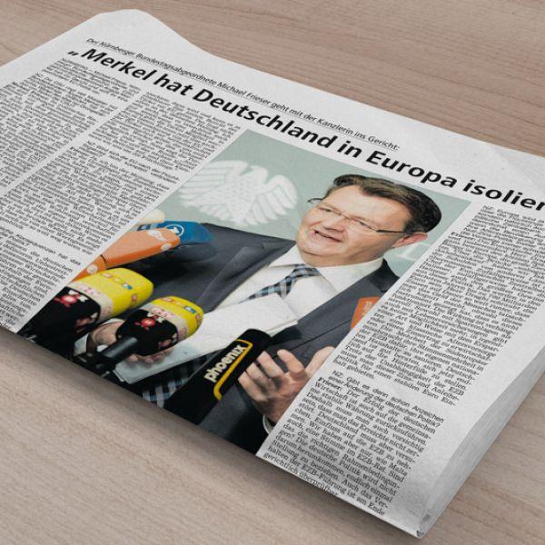 """NZ-Interview: """"Merkel hat Deutschland in Europa isoliert"""""""